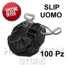 SLIP UOMO TNT NERO RO.IAL monouso Trattamenti estetica estetista tanga 100Pz
