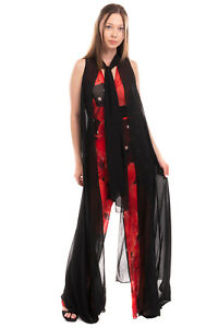 RRP €280 BABYLON COLLECTION Jumpsuit Size 42 / S Floral Overlay Pussy Bow