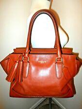 Coach New York Hampton Womens Leather Shoulder Bag Carmel Large 19890