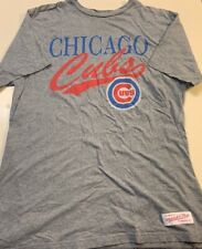 Mitchell & Ness Chicago Cubs Blue Cree Neck Mens Shirt Red White Blue XL Grey