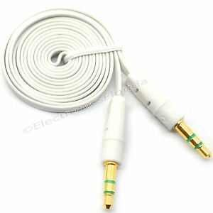 3.5mm Flat Male to Male Stereo Audio Auxiliary AUX Cable for PC iPod Car b232