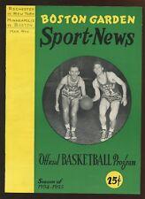 March 4 1955 NBA Basketball Program Minneapolis Lakers at Boston Celtics