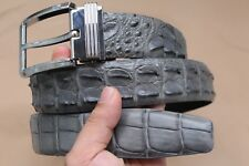 "W 1.5"" Gray Genuine CROCODILE Leather Skin MEN'S Belt - Without Jointed"