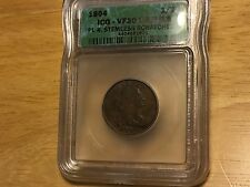 1804 HALF CENT ICG VF30 PL4 STEMLESS DETAILS FREE SHIPPING! BETTER DATE! PENNY