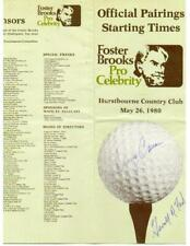 Gerald Ford (President) autographed golf program also signed by Denny Crum.