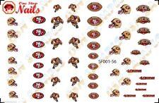 56pcs San Francisco 49ers Nail Art Decals Stickers Transfers. NFL SF001-56