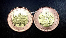 CZECH REPUBLIC UNC BIMETAL COINS 50 KORUN 2014 CZECH LION