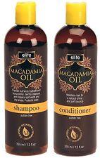 Elite Essentials Macadamia Oil Shampoo and Conditioner Set 12 Oz. Each