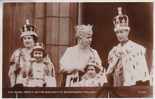 Postcard UK The Royal Family on the Balcony at Buckingham Palace 1937