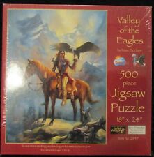 """New Sealed 2011 """"Valley of the Eagles"""" 500 piece Jigsaw Puzzle by Russ Docken"""