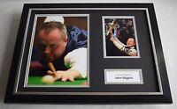 John Higgins SIGNED FRAMED Photo Autograph 16x12 display Snooker Sport AFTAL COA