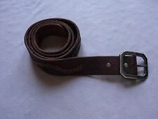 TRUE RELIGION MENS VINTAGE WESTERN DARK BROWN EMBOSSED LEATHER BELT SIZE 38 NEW