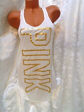 victoria secret PINK COVER UP BEACH TANK TOP DRESS NWT! SMALL