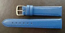 Hirsch Lederband Blue 18/16 mm Handarbeit made in Germany No Allergy Neu