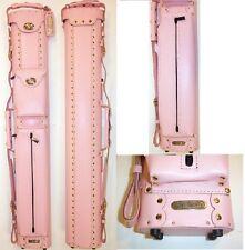 New InStroke 2x4 Pink LTD Leather Pool Cue Case - INSLTD24-PINK - FREE US SHIP