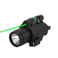 Green/Red Laser Sight Tactical LED Flashlight Combo Picatinny Rail Mount