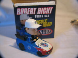 NHRA DRAG RACING AUTOGRAPH ROBERT HIGHT FUNNY CAR BOBBLE-HEAD