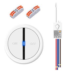 Lichtschalter Funkschalter 2-Tasten Fernbedienung Wasserdicht Drahtlose Ein/ Aus