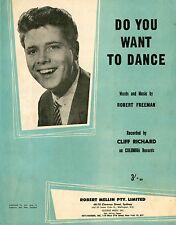 CLIFF RICHARD - DO YOU WANT TO DANCE - VINTAGE SHEET MUSIC AUSTRALIA