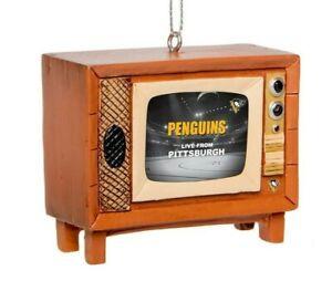 Pittsburgh Penguins Christmas Tree Holiday Ornament New Logo Nostalgia Retro TV