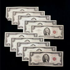(10) 1953_ A & 1963_ A ( Inc 1 Star ) $2 Dollar Red Seal Bank Notes H00669173