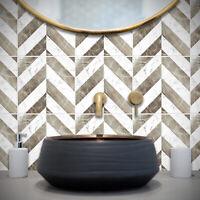 Dark Grey Modern Star Tile Sticker Decal Bathroom Kitchen T29