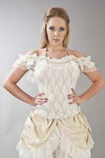 Burleska Jessie Cream Lace Ribbon Back Top Size ML 12 BNWT