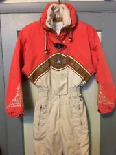 Pre-owned Womens Bogner Ski Snow Suit One Piece Skiing Outfit Onsie Ladies 4 USA