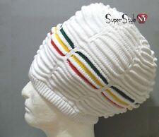XL L Striped Africa Tam Rasta Rastafari Jamaica DreadLock Hat Beret Beanie XL
