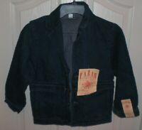 FARAH Vintage Workwear Denim Jean Button Front BLAZER JACKET Women's Size 8 NWT