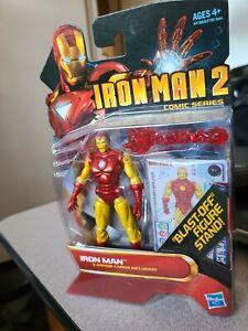 "2010 Mattel Iron Man 2 Comic series 4"" IRON MAN (Action Figure #26) by Hasbro"