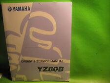 YAMAHA YZ80B  OWNERS SERVICE MANUAL BOOK OEM # LIT-11626-07-61