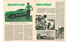 1970 DODGE CHALLENGER FUNNY CAR WHITE BEAR DODGE ~ ORIGINAL 2-PAGE ARTICLE / AD