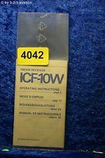 Sony Mini Bedienungsanleitung ICF 10W FM/AM Receiver (#4042)