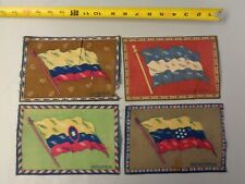 Lot of 4 1900's Tobacco Cigarette Felt- Ecuador, Nicaragua, Venezuela, Columbia