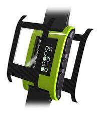 Skinomi Carbon Fiber Black Watch Skin+HD Screen Protector for Pebble Smartwatch