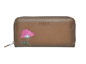 Ladies Large Wallets Brown Leather Zip Around Card Money Holder FABLE UK Last 1