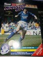 Leicester City v Newcastle United, 1991-92