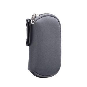 Neoprene Sleeve Earphone Carry Bag Earbud Case Headphone Storage Bag w Carabiner