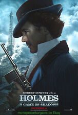 SHERLOCK HOLMES : A GAME OF SHADOWS MOVIE POSTER 2 SIDED HOLMES STYLE ADVANCE
