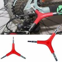 Fahrrad Fahrrad Radfahren 3 Dreiweg Y Hex Inbusschlüssel Repair Tools Größe Y5P5