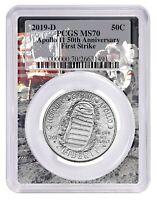 2019 D Apollo 11 50th Anniversary UNC Clad Half Dollar PCGS MS70 First Strike