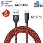 For Samsung Galaxy S7 S6 Edge Note5 Note 4 Fast Charger 6Ft Micro USB Cable Cord