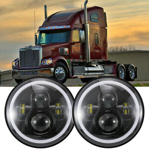 For 2001-2016 Freightliner Coronado 2X 7 Inch 120W LED DRL Headlights H4 to H13