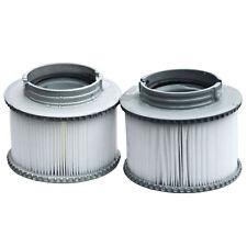 2x Wasserfilter für Whirlpool MSpa HWC-A62, Ersatzfilter Filterkartusche Zubehör