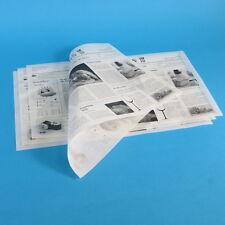 1000x Hamburgerpapier Zeitung Sandwichpapier Einschlagpapier fettdicht 25x38cm