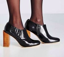 NEW In Box 8 Jeffrey Campbell Melba Black Leather Block Heel Urban Outfitters