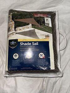 Coolaroo Ready-To-Hang Shade Sail Triangle Pebble 13Ft X 13 Ft X 13 Ft Open Box