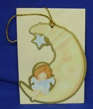 Hallmark Christmas Keepers Hanging Card Gift Tag A Heavenly Nap Angel Donna Lee