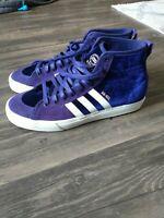 Adidas Na-kel Smith Skateboarding Matchcourt RX Hi Purple Velvet Shoe Men Sz 10